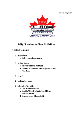 2019 Rally Guidelines