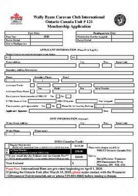2020 NEW Membership Application