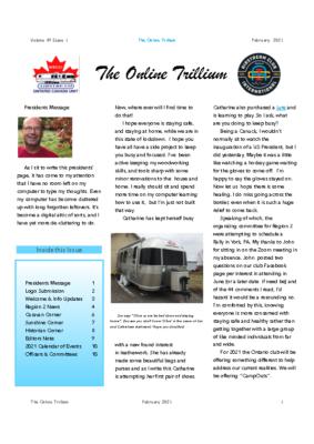 The Trillium On-line – February 2021